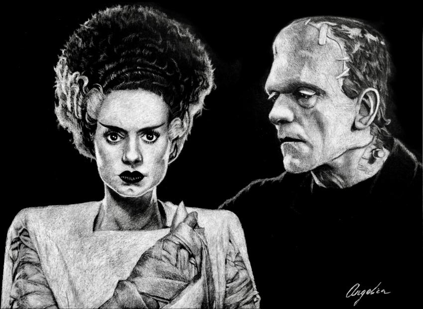 Elsa Lanchester, Boris Karloff par Kaskad